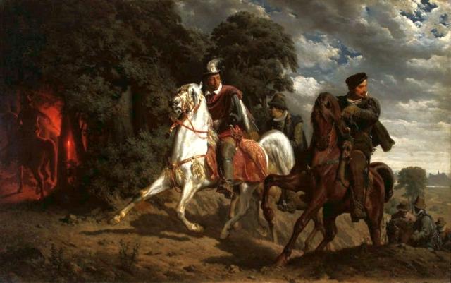 Ucieczka Henryka Walezego z Polski, obraz Artura Grottgera
