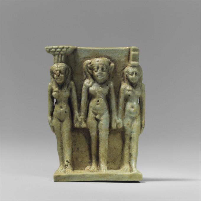 Nephthys, Horus, and Isis Amulet